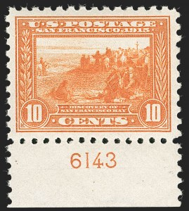 Sale Number 1232, Lot Number 1285, 1913-15 Panama-Pacific Issue (Scott 397-404)10c Panama-Pacific, Perf 10 (404), 10c Panama-Pacific, Perf 10 (404)