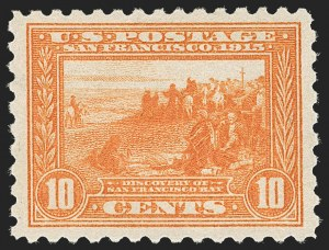 Sale Number 1232, Lot Number 1287, 1913-15 Panama-Pacific Issue (Scott 397-404)10c Panama-Pacific, Perf 10 (404), 10c Panama-Pacific, Perf 10 (404)