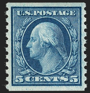 Sale Number 1232, Lot Number 1313, 1912-15 Washington-Franklin Issues (Scott 405-461)5c Blue, Coil (458), 5c Blue, Coil (458)