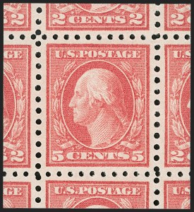 Sale Number 1232, Lot Number 1319, 1916-17 Issues (Scott 462-550)5c Carmine, Error (467), 5c Carmine, Error (467)