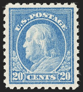 Sale Number 1232, Lot Number 1321, 1916-17 Issues (Scott 462-550)20c Light Ultramarine (476), 20c Light Ultramarine (476)