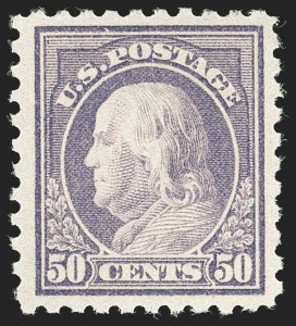 Sale Number 1232, Lot Number 1322, 1916-17 Issues (Scott 462-550)50c Light Violet (477), 50c Light Violet (477)