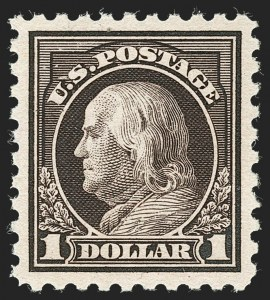 Sale Number 1232, Lot Number 1323, 1916-17 Issues (Scott 462-550)$1.00 Violet Black (478), $1.00 Violet Black (478)