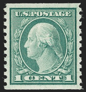 Sale Number 1232, Lot Number 1329, 1916-17 Issues (Scott 462-550)1c Green, Coil (490), 1c Green, Coil (490)