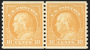 Sale Number 1232, Lot Number 1331, 1916-17 Issues (Scott 462-550)10c Orange Yellow, Coil (497), 10c Orange Yellow, Coil (497)