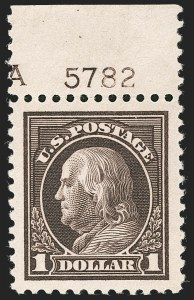 Sale Number 1232, Lot Number 1344, 1916-17 Issues (Scott 462-550)$1.00 Violet Brown (518), $1.00 Violet Brown (518)