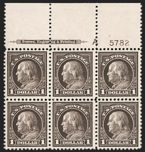 Sale Number 1232, Lot Number 1345, 1916-17 Issues (Scott 462-550)$1.00 Violet Brown (518), $1.00 Violet Brown (518)