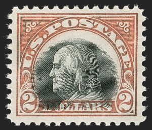 Sale Number 1232, Lot Number 1346, 1916-17 Issues (Scott 462-550)$2.00 Orange Red & Black (523), $2.00 Orange Red & Black (523)