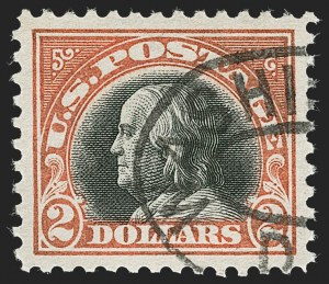 Sale Number 1232, Lot Number 1347, 1916-17 Issues (Scott 462-550)$2.00 Orange Red & Black (523), $2.00 Orange Red & Black (523)