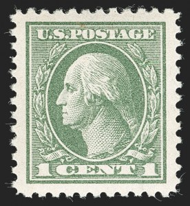 Sale Number 1232, Lot Number 1349, 1916-17 Issues (Scott 462-550)1c Gray Green (525), 1c Gray Green (525)