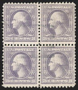 Sale Number 1232, Lot Number 1354, 1916-17 Issues (Scott 462-550)3c Purple, Ty. IV, Double Impression (530a), 3c Purple, Ty. IV, Double Impression (530a)