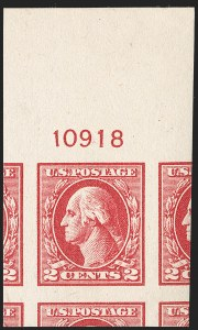 Sale Number 1232, Lot Number 1356, 1916-17 Issues (Scott 462-550)2c Carmine Rose, Ty. IV, Imperforate (532), 2c Carmine Rose, Ty. IV, Imperforate (532)