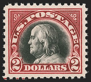 Sale Number 1232, Lot Number 1362, 1916-17 Issues (Scott 462-550)$2.00 Carmine & Black (547), $2.00 Carmine & Black (547)