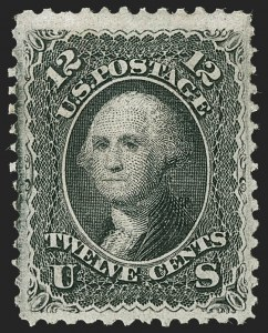 Sale Number 1234, Lot Number 126, 1867-68 Grilled Issue and 1875 Re-Issue of 1861-66 Issue (Scott 81-111)12c Black, F. Grill (97), 12c Black, F. Grill (97)