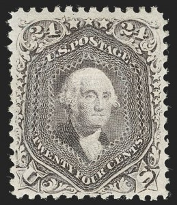 Sale Number 1234, Lot Number 130, 1867-68 Grilled Issue and 1875 Re-Issue of 1861-66 Issue (Scott 81-111)24c Gray Lilac, F. Grill (99), 24c Gray Lilac, F. Grill (99)