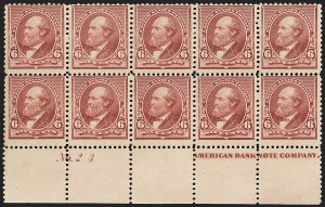 Sale Number 1234, Lot Number 230, 1890-93 Issue (Scott 219-229)6c Brown Red (224), 6c Brown Red (224)