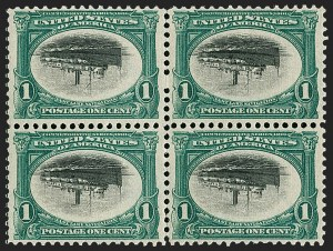Sale Number 1234, Lot Number 283, 1901 Pan-American Issue (Scott 294-299)1c Pan-American, Center Inverted (294a), 1c Pan-American, Center Inverted (294a)
