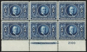 Sale Number 1234, Lot Number 307, 1904 Louisiana Purchase and Jamestown Issues (Scott 323-330)5c Louisiana Purchase (326), 5c Louisiana Purchase (326)