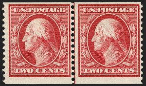 Sale Number 1234, Lot Number 322, 1908-12 Issues (Scott 385-404)2c Carmine, Coil (388), 2c Carmine, Coil (388)