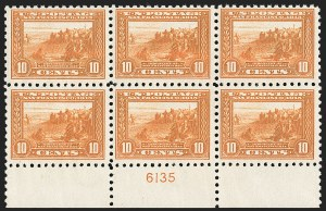 Sale Number 1234, Lot Number 328, 1908-12 Issues (Scott 385-404)10c Panama-Pacific, Perf 10 (404), 10c Panama-Pacific, Perf 10 (404)