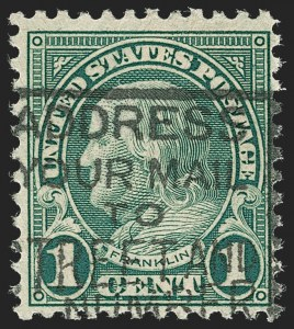 Sale Number 1234, Lot Number 361, Rotary Press Rarities and Later Issues (Scott 594, 596, 613 and Later)1c Green, Rotary, Perf 11 (594), 1c Green, Rotary, Perf 11 (594)