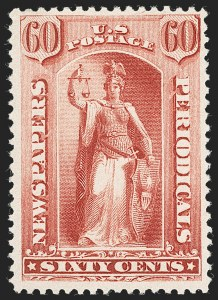 Sale Number 1234, Lot Number 502, Newspapers and Periodicals (PR63-PR113)60c Red, 1879 Issue (PR67), 60c Red, 1879 Issue (PR67)