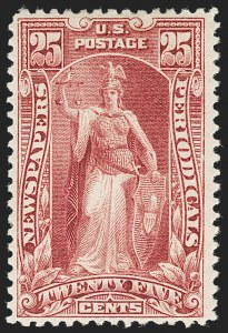 Sale Number 1234, Lot Number 527, Newspapers and Periodicals (PR63-PR113)25c Carmine, 1895 Issue (PR106), 25c Carmine, 1895 Issue (PR106)