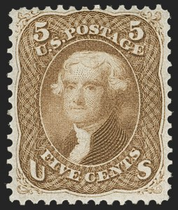 Sale Number 1234, Lot Number 87, 1861-66 Issue (Scott 56-78)5c Buff (67), 5c Buff (67)