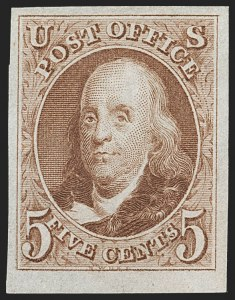 Sale Number 1235, Lot Number 1003, 1847 Issue and Reproduction (Scott 1-4)5c Red Brown, Reproduction (3), 5c Red Brown, Reproduction (3)