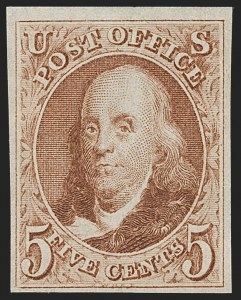 Sale Number 1235, Lot Number 1004, 1847 Issue and Reproduction (Scott 1-4)5c Red Brown, Reproduction (3), 5c Red Brown, Reproduction (3)