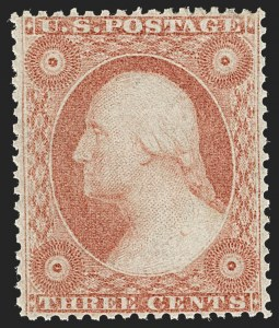 Sale Number 1235, Lot Number 1024, 1857-60 Issue (Scott 18-39)3c Dull Red, Ty. IV (26A), 3c Dull Red, Ty. IV (26A)