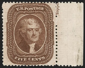 Sale Number 1235, Lot Number 1026, 1857-60 Issue (Scott 18-39)5c Brown, Ty. II (30A), 5c Brown, Ty. II (30A)