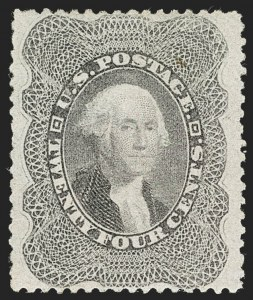 Sale Number 1235, Lot Number 1033, 1857-60 Issue (Scott 18-39)24c Gray Lilac (37), 24c Gray Lilac (37)
