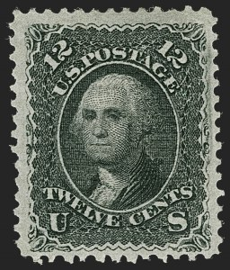 Sale Number 1235, Lot Number 1067, 1867-68 Grilled Issue (Scott 79-101)12c Black, E. Grill (90), 12c Black, E. Grill (90)