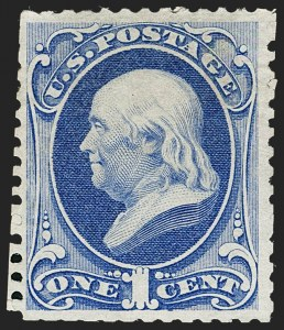 Sale Number 1235, Lot Number 1135, 1875 Continental Bank Note Co. Hard Paper Special Printing (Scott 167-177)1c Ultramarine, Special Printing (167), 1c Ultramarine, Special Printing (167)