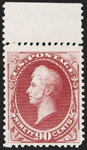 Sale Number 1235, Lot Number 1143, 1875 Continental Bank Note Co. Hard Paper Special Printing (Scott 167-177)90c Violet Carmine, Special Printing (177), 90c Violet Carmine, Special Printing (177)