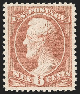 Sale Number 1235, Lot Number 1165, 1881-87 American Bank Note Co. Issues (Scott 205-218)6c Rose (208), 6c Rose (208)