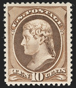 Sale Number 1235, Lot Number 1166, 1881-87 American Bank Note Co. Issues (Scott 205-218)10c Brown (209), 10c Brown (209)