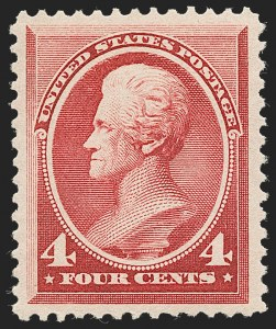 Sale Number 1235, Lot Number 1168, 1881-87 American Bank Note Co. Issues (Scott 205-218)4c Carmine (215), 4c Carmine (215)