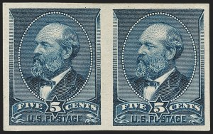 Sale Number 1235, Lot Number 1170, 1881-87 American Bank Note Co. Issues (Scott 205-218)5c Indigo, Imperforate (216b), 5c Indigo, Imperforate (216b)