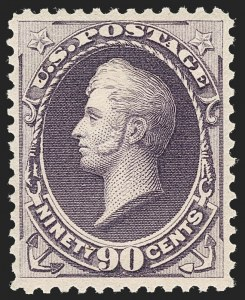 Sale Number 1235, Lot Number 1172, 1881-87 American Bank Note Co. Issues (Scott 205-218)90c Purple (218), 90c Purple (218)