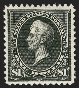 Sale Number 1235, Lot Number 1203, 1894-98 Bureau Issue (Scott 246-284)$1.00 Black (261), $1.00 Black (261)