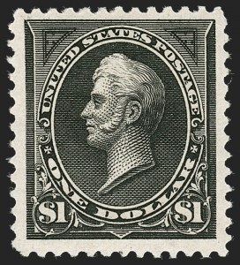 Sale Number 1235, Lot Number 1204, 1894-98 Bureau Issue (Scott 246-284)$1.00 Black (261), $1.00 Black (261)