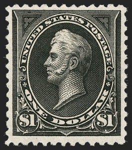 Sale Number 1235, Lot Number 1205, 1894-98 Bureau Issue (Scott 246-284)$1.00 Black, Ty. II (261A), $1.00 Black, Ty. II (261A)