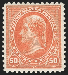 Sale Number 1235, Lot Number 1209, 1894-98 Bureau Issue (Scott 246-284)50c Orange (275), 50c Orange (275)