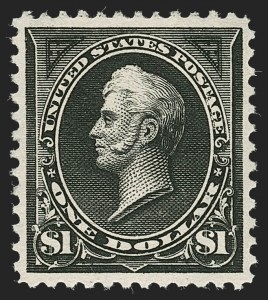 Sale Number 1235, Lot Number 1210, 1894-98 Bureau Issue (Scott 246-284)$1.00 Black, Ty. I (276), $1.00 Black, Ty. I (276)