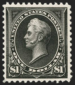 Sale Number 1235, Lot Number 1211, 1894-98 Bureau Issue (Scott 246-284)$1.00 Black, Ty. II (276A), $1.00 Black, Ty. II (276A)