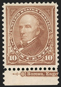 Sale Number 1235, Lot Number 1216, 1894-98 Bureau Issue (Scott 246-284)10c Brown, Ty. I (282C), 10c Brown, Ty. I (282C)