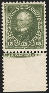 Sale Number 1235, Lot Number 1217, 1894-98 Bureau Issue (Scott 246-284)15c Olive Green (284), 15c Olive Green (284)