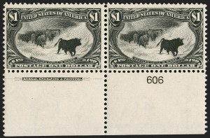 Sale Number 1235, Lot Number 1228, 1898 Trans-Mississippi Issue (Scott 285-293)$1.00 Trans-Mississippi (292), $1.00 Trans-Mississippi (292)